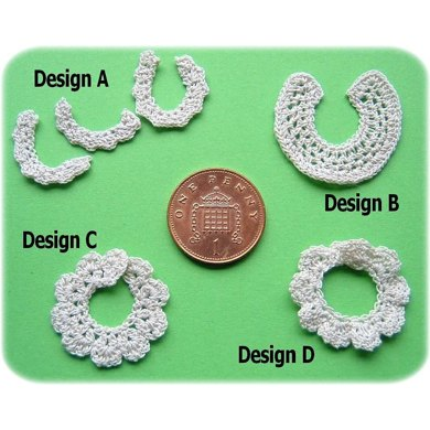 1:12th scale Ladies collar and cuff sets