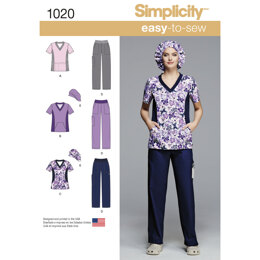 Simplicity Women's and Plus Size Scrubs 1020 - Sewing Pattern