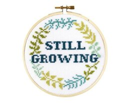 The Stranded Stitch Still Growing Cross Stitch Kit - 5 inches