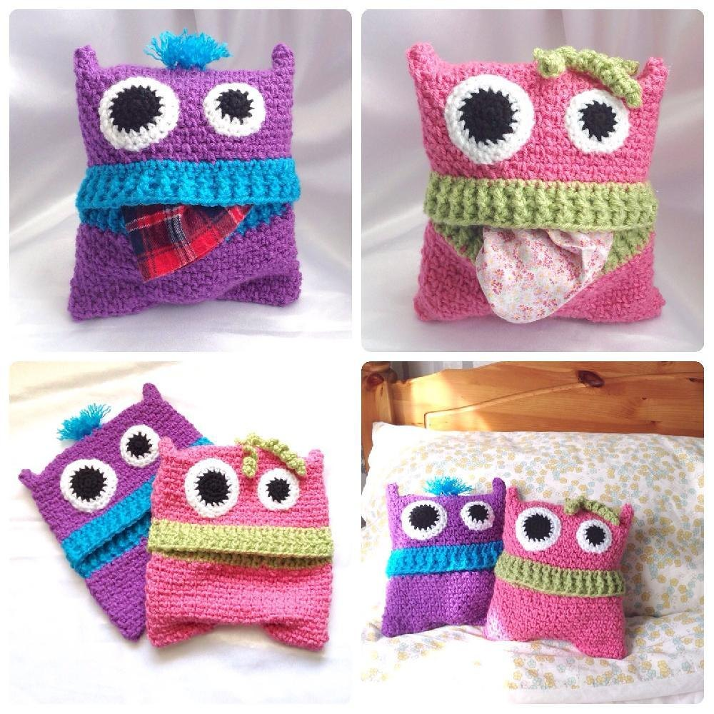 Pyjama Monsters - Pajama Case Crochet pattern by Hooked on Patterns | Crochet Patterns