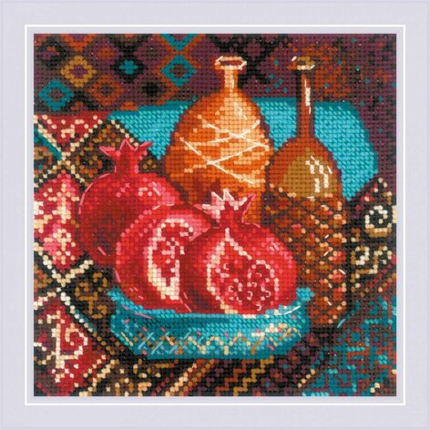 Riolis Pomegranates Cross Stitch Kit - 20cm x 20cm