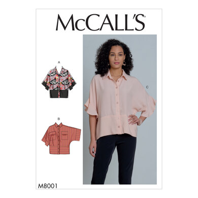 McCall's Misses' Tops M8001 - Sewing Pattern