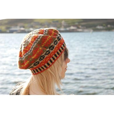 Gro's Fair Isle Beret Knitting pattern by Emily Poleson