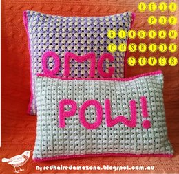 Neon Pop! Gingham Cushion Cover