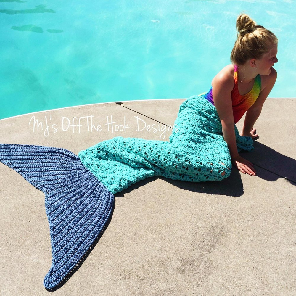 Mermaid Beach Bag Towel Crochet Pattern By Mjsoffthehook