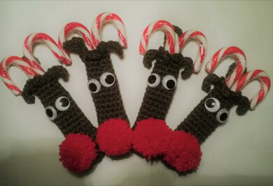 Candy Cane Reindeer Crochet Pattern By Alison Livesey