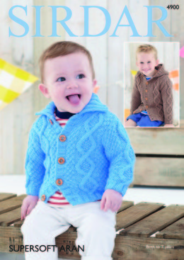 Baby Boy's & Boy's Cardigans in Sirdar Supersoft Aran - 4900 - Downloadable PDF