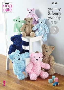 Teddies in King Cole Yummy and Funny Yummy - 9137 - Downloadable PDF