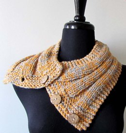 Crosstown Buttoned Cowl