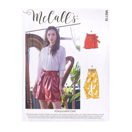 McCall's Misses' Paperbag Shorts and Pants M8118 - Sewing Pattern