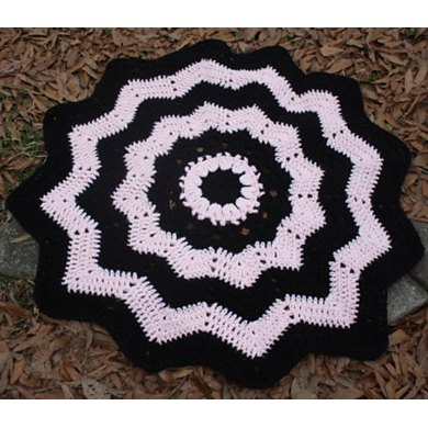 Sugar and Spice Round Ripple Afghan