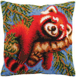 Collection D'Art Red Panda Cross Stitch Cushion Kit - 40cm x 40cm