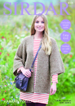 Kimono Jacket in Sirdar Harrap Tweed Chunky - 8104 - Downloadable PDF