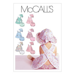 McCall's Infants' Dresses, Panties and Hat M6303 - Sewing Pattern