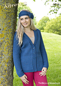 Jacket and Headband in Twilleys Freedom Alfresco Aran - 9210