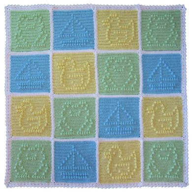 Popcorn Patchwork Blankie for Boys