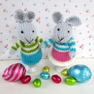 Egg Cosy Bunny Friends Knitting Pattern By Dollytime