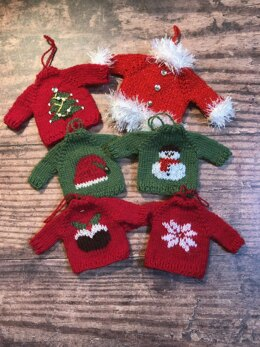 Christmas Sweater Tree Ornaments