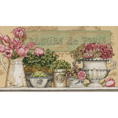 Dimensions Flowers of Paris Cross Stitch Kit - 36cm x 20cm