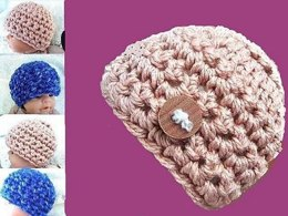 286A CHUNKY STYLE BEANIE, 1 year to adult