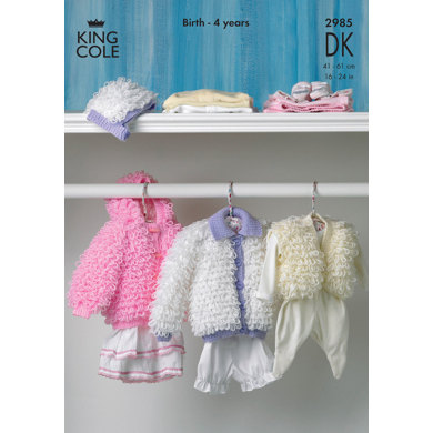 Loopy Jackets Hat And Bolero In King Cole Comfort Baby Dk 2985