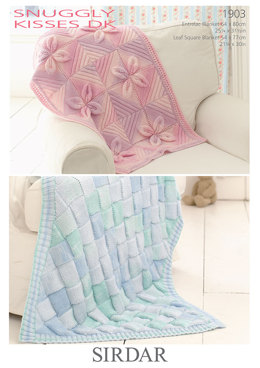 Baby Blankets in Sirdar Snuggly Kisses DK - 1903 - Downloadable PDF