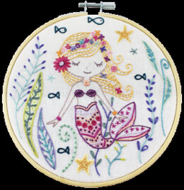 Un Chat Dans L'Aiguilles Marjolaine the Little Mermaid Embroidery Kit