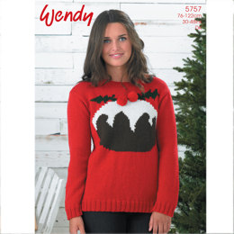Christmas Pudding Sweater in Wendy Mode DK - 5757