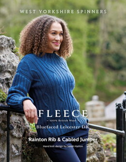 Rainton Rib & Cabled Jumper in West Yorkshire Spinners Bluefaced Leicester DK - DBP0178 - Downloadable PDF