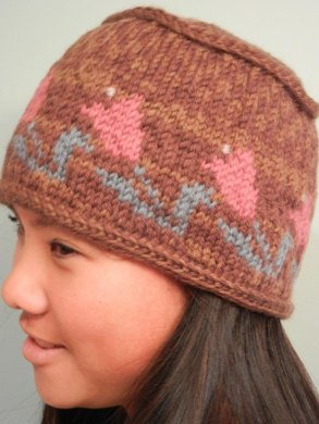 Flat Top Tulip Hat Knitting pattern by Idle Hands Knits  c6d40e400bd