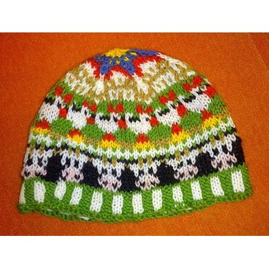 Cow farm kids beanie