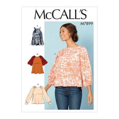 McCall's Misses' Tops M7899 - Sewing Pattern