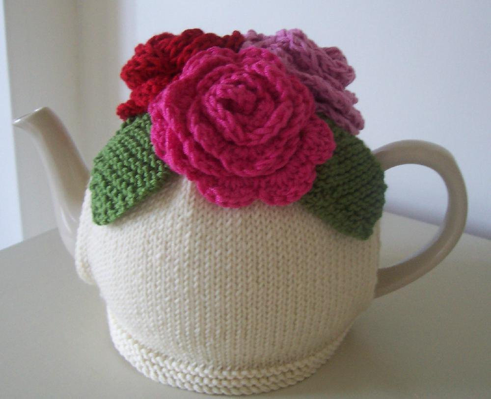 Summer Roses Tea Cosy Knitting Crochet pattern by Buzybee Crochet Patterns ...
