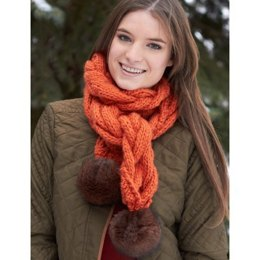 Snowdrift Cable Scarf in Bernat Roving