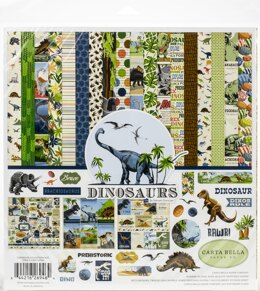"Echo Park Paper Carta Bella Collection Kit 12""X12"" - Dinosaurs"
