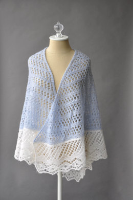Featherdown Shawl in Rozetti Yarns Alaska - Downloadable PDF