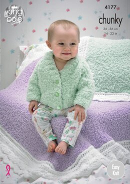 Blankets and Cushions in King Cole Cuddles and Comfort Chunky - 4177 - Downloadable PDF