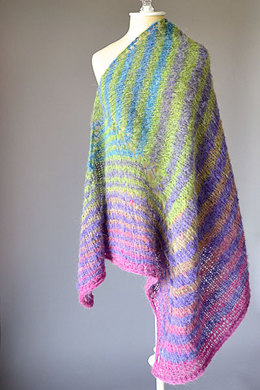 Skewed Shawl in Universal Yarn Revolutions - Downloadable PDF