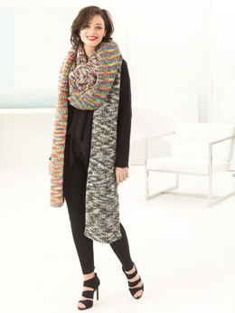 Iris Super Scarf in Lion Brand Color Waves - L60187 - Downloadable PDF