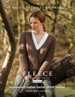Hazelwood Ladies Garter Stitch Jumper in West Yorkshire Spinners Bluefaced Leicester Roving - DBP0164 - Downloadable PDF