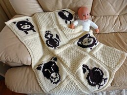 Farmyard Animals Baby Blanket
