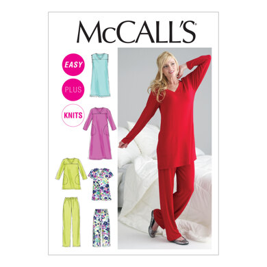 McCall's Misses'/Women's Top, Tunic, Gowns and Pants M6474 - Sewing Pattern
