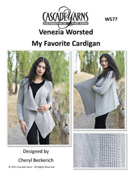 My Favourite Cardigan in Cascade Yarns Venezia Worsted - W577 - Downloadable PDF