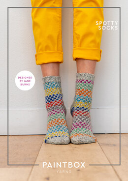 Spotty Socks in Paintbox Yarns Socks - Downloadable PDF