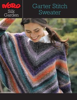 Garter Stitch Sweater in Noro Silk Garden