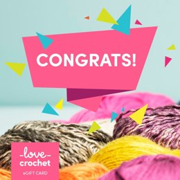 LoveCrochet eGift Card - Congrats!
