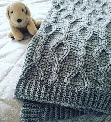 Candlestick Cable Blanket