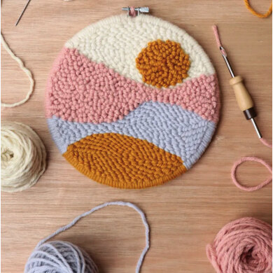 The Modern CrafterBeginner Punch Needle Hoop Kit - Sunset - 8in