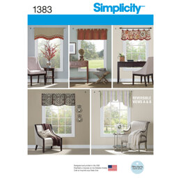 Simplicity Valances for 36in to 40in Wide Windows 1383 - Paper Pattern, Size OS (ONE SIZE)