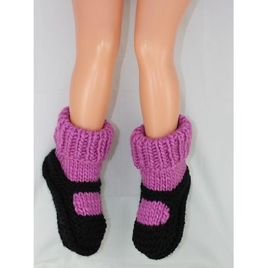Childrens Superfast Rib Cuff Sock Slippers